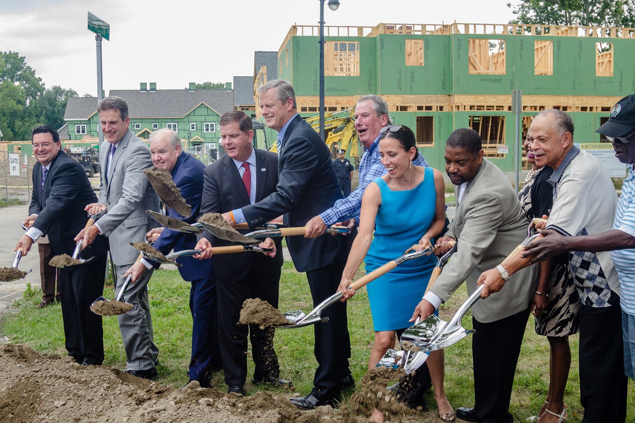 Governor Baker and others break ground on affordable housing in Boston.