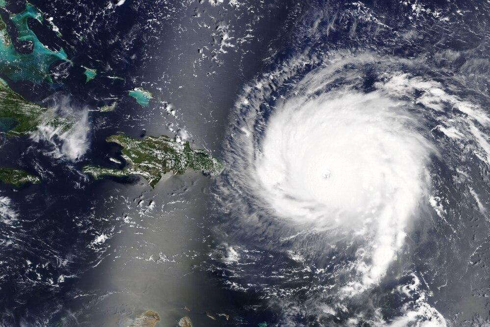 Hurricane Irma on satellite.