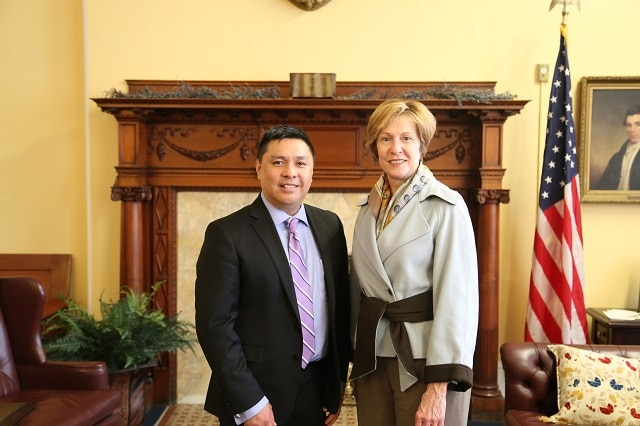 Dr. John Naranja and Auditor Bump at the State House following his appointment to the Asian American Commission