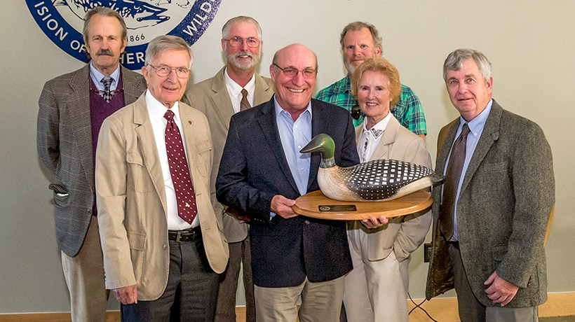 George Peterson and members of the Fisheries and Wildlife Board