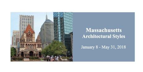 Masssachusetts Architectural Styles postcard image