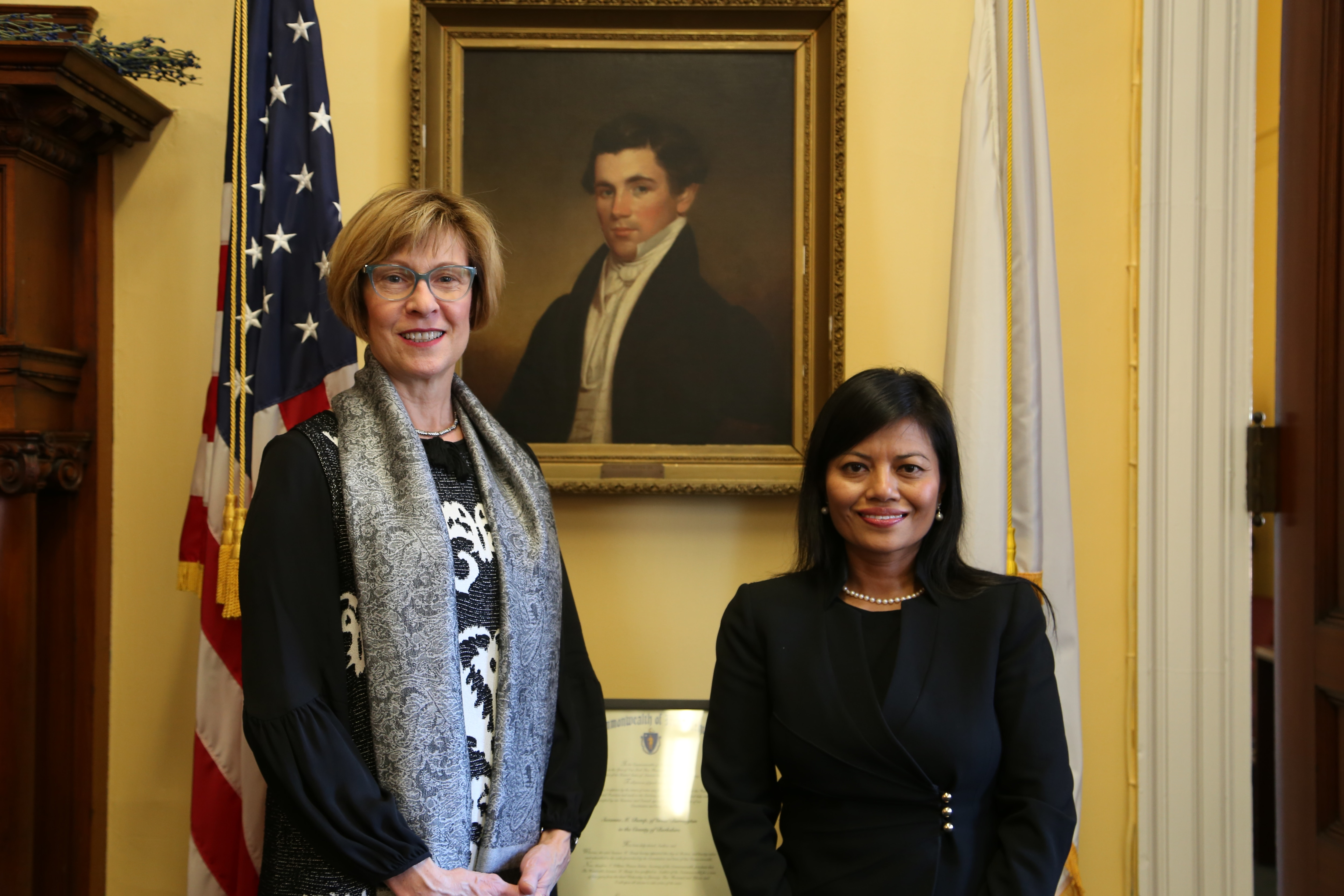 State Auditor Suzanne M. Bump with Vanna Howard, her appointee to the Asian American Commission.