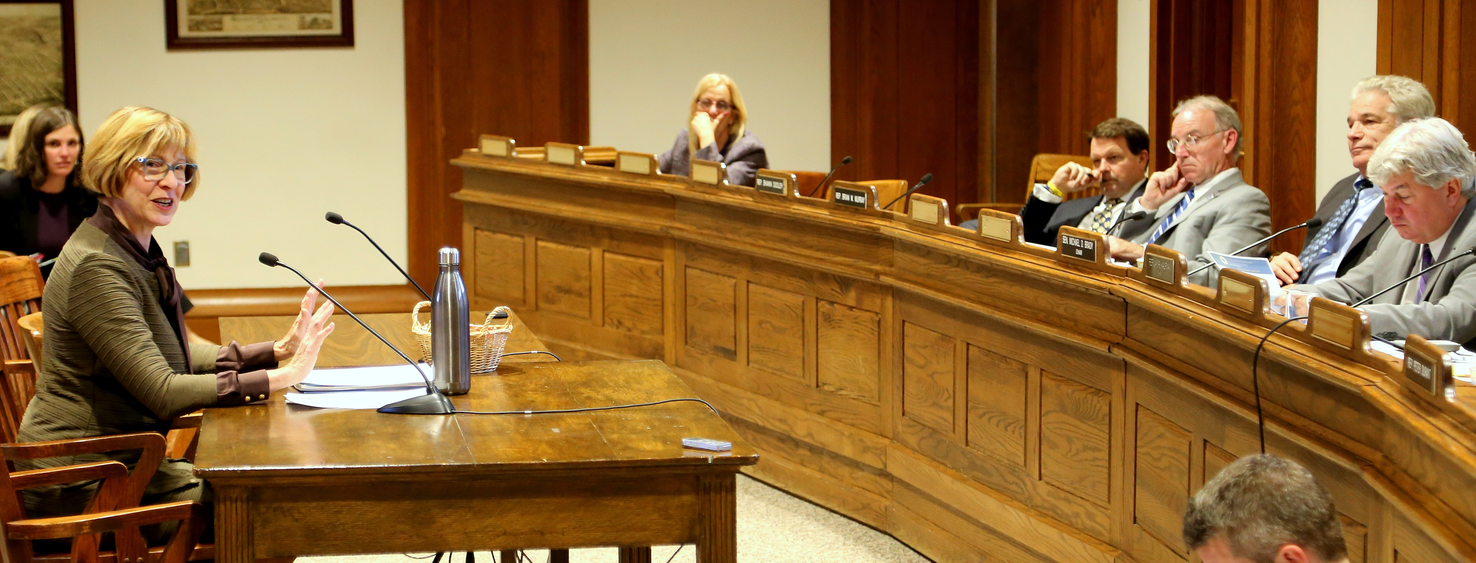 Auditor Bump testifies before the Joint Committee on Revenue about a measure she introduced - H. 4061 during a hearing in October 2017.