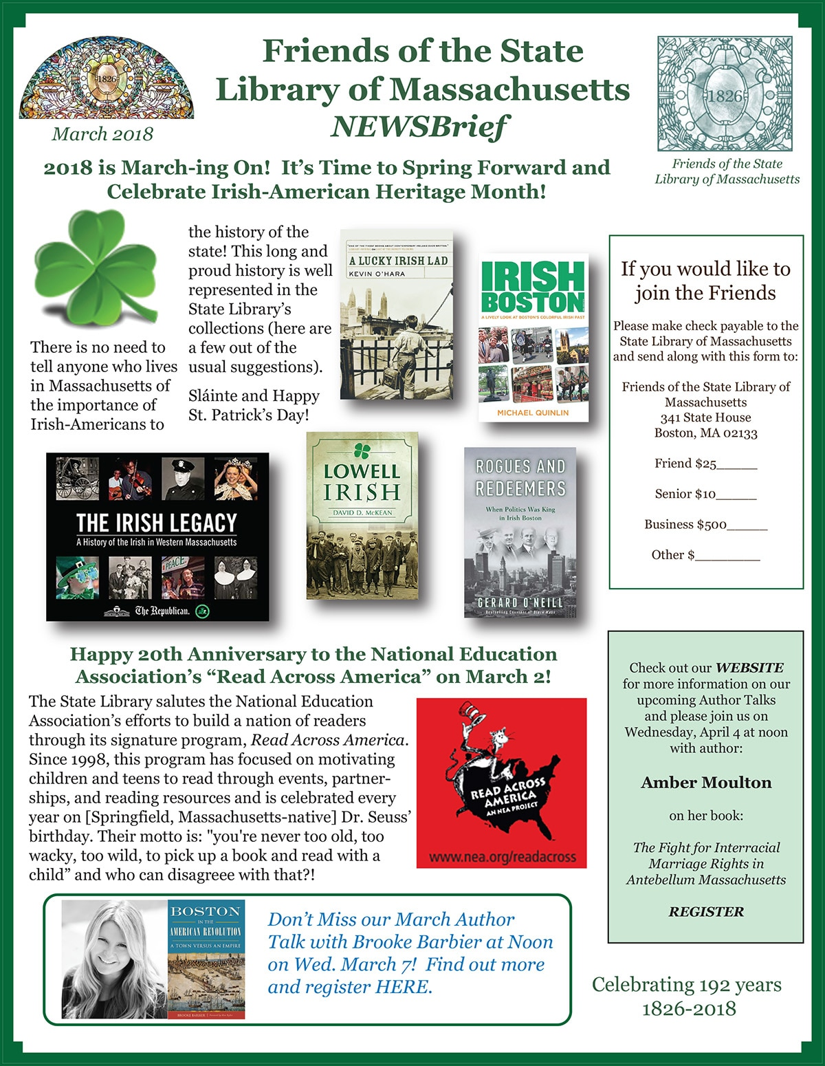 March Friends of the Library NewsBrief
