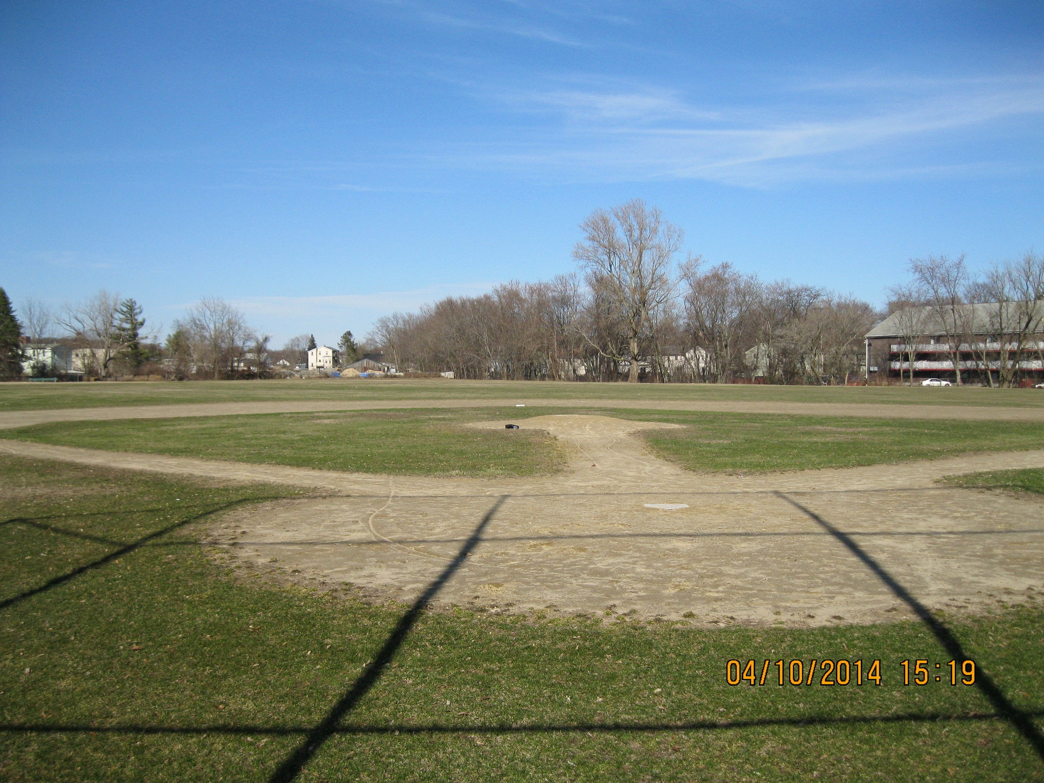 One of three ball fields at Mary Dennison Park, South Framingham, MA