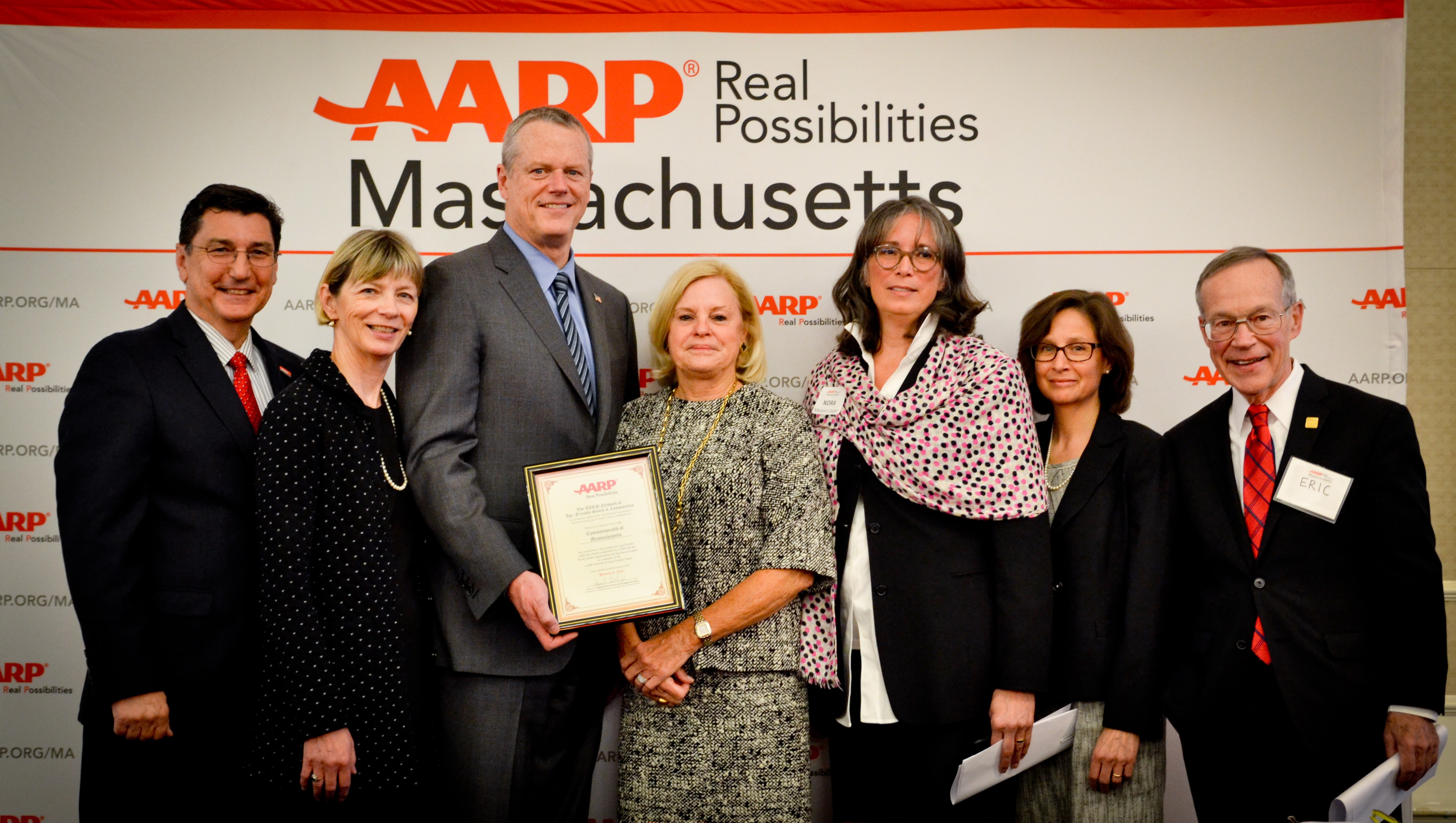 Governor Baker formally marks the Commonwealth's membership inAARP's Network of Age-Friendly States.