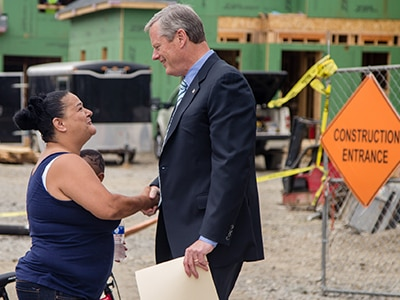 Governor Baker visit housing development.