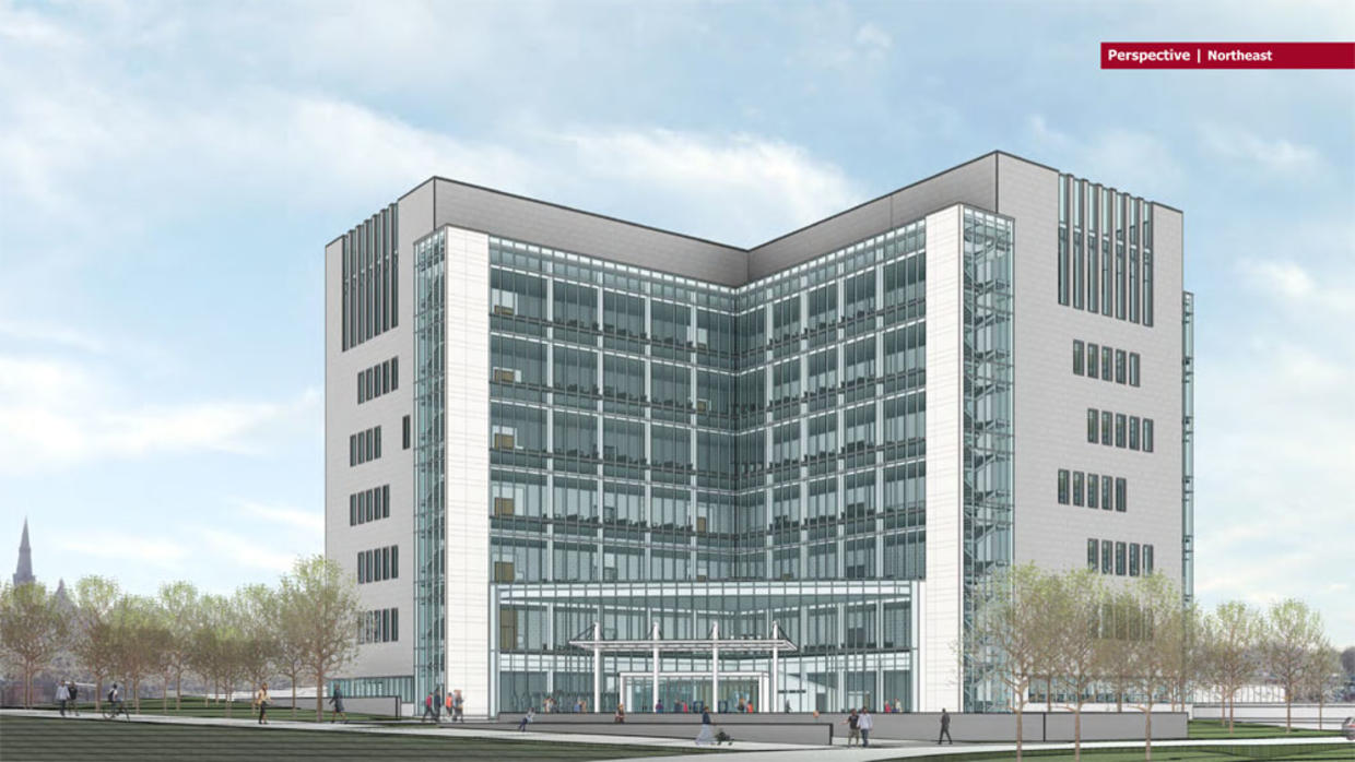 Northeast perspective of new Lowell Judicial Center