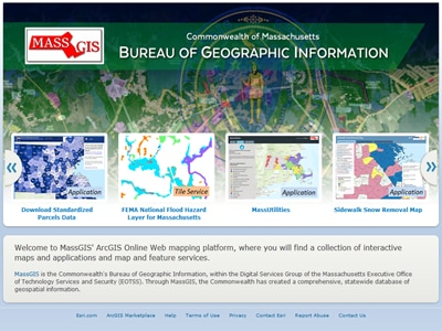Visit MassGIS at ArcGIS Online
