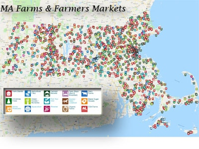Map of Farms, Fairs, and Farmers Markets