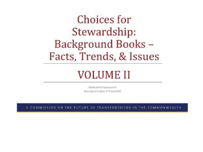 Choices for Stewardship: Background Books – Facts, Trends, & Issues VOLUME II