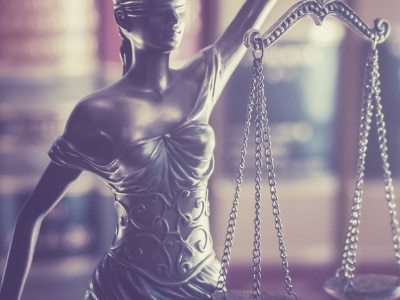 Stock image of Lady Justice statue