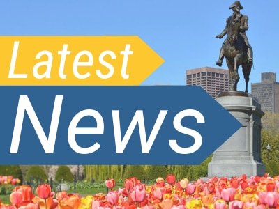 "A statue of George Washington in the Boston Common, with the words, ""Latest News"" laid over top of the image."