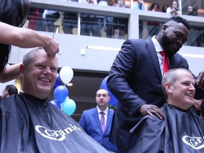 Governor Baker participates in Saving By Shaving