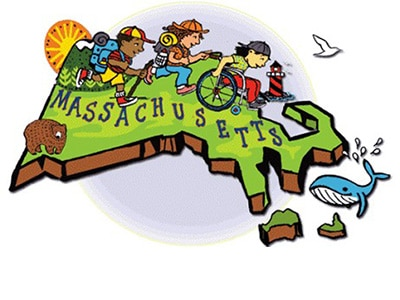 massacgusetts map illustration