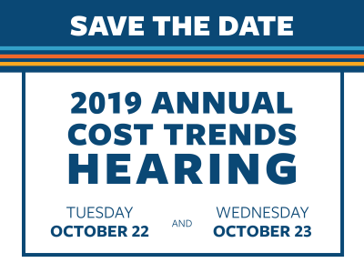 2019 Cost Trends Hearing