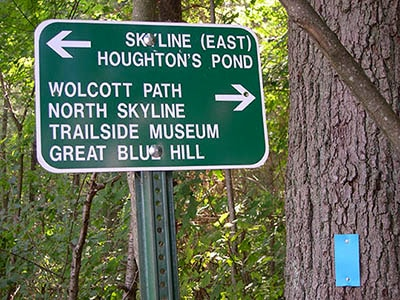 houghton's pond trail sign