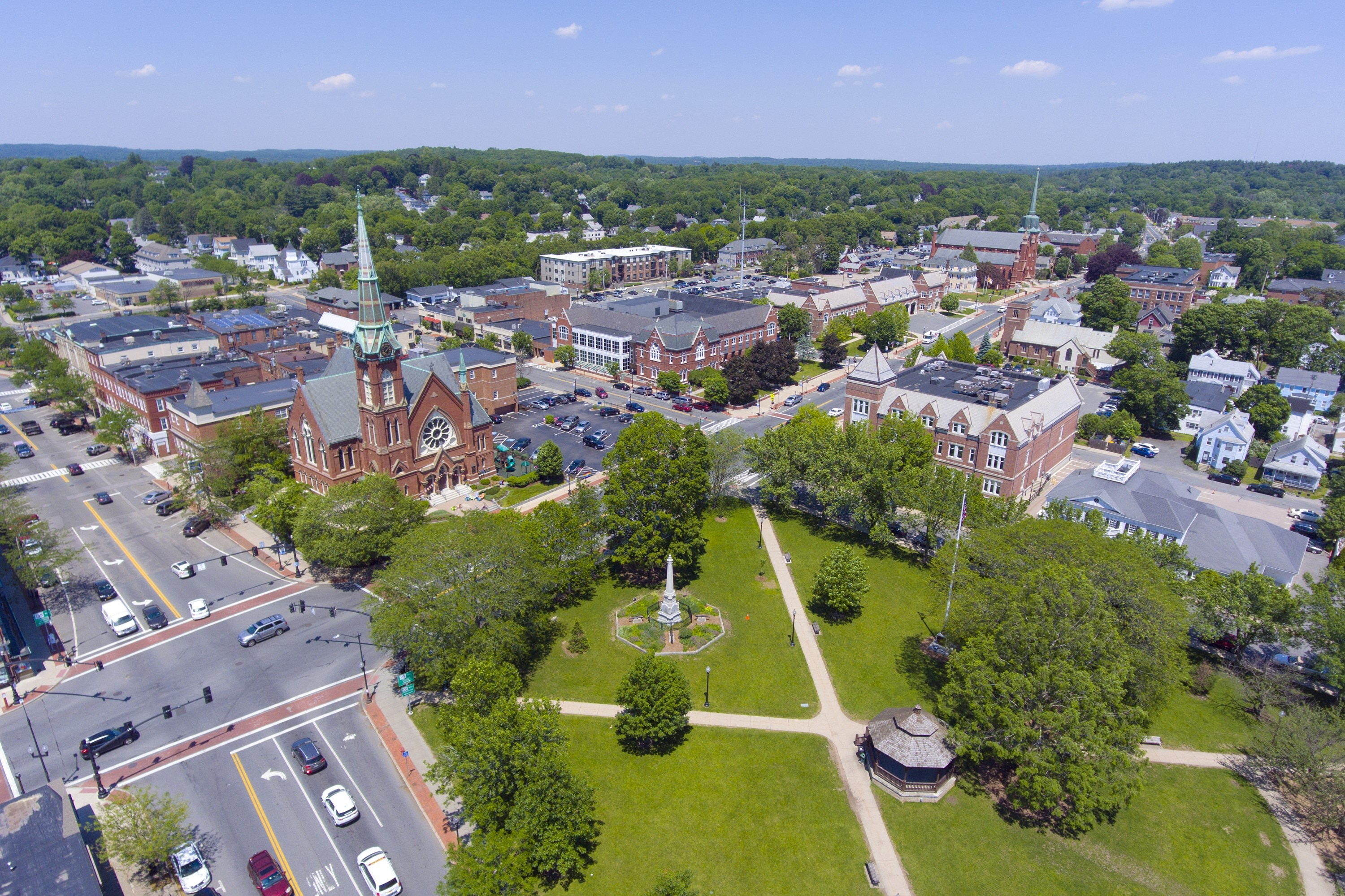 Aerial view of Natick by Shutterstock