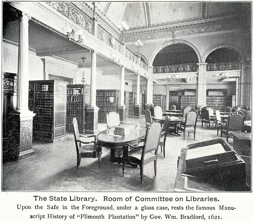 Bradford Manuscript in the State Library 1899 Image