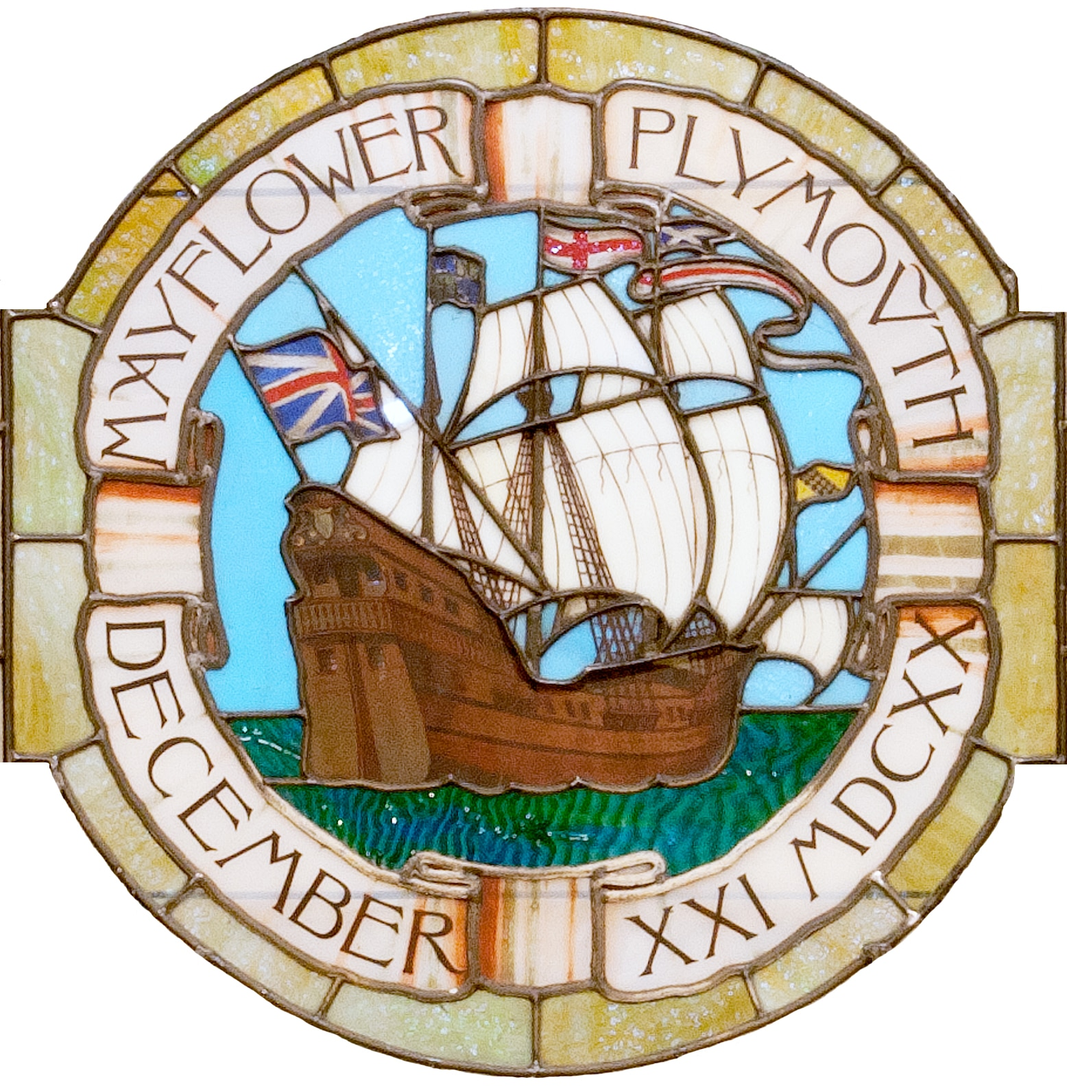 Mayflower in Stained Glass Image