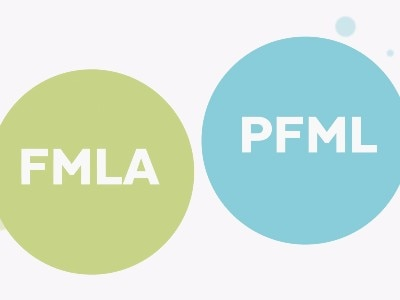 "A green circle labeled ""FMLA"" and a blue circle labeled ""PFML"""