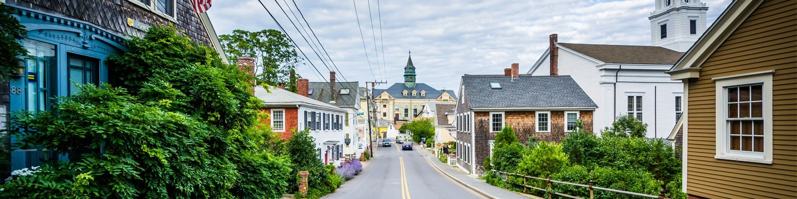 Massachusetts town road by Shutterstock