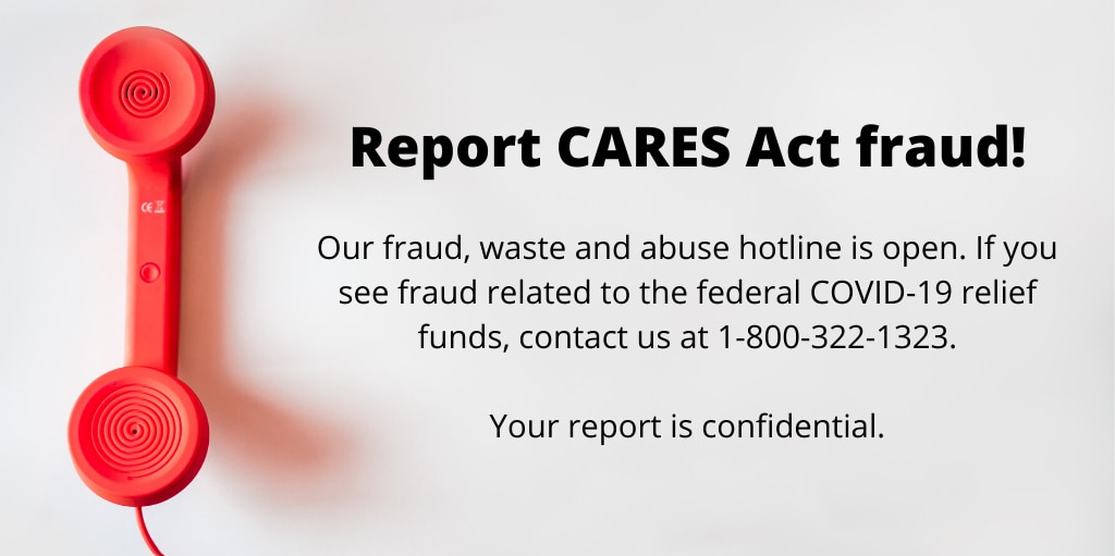 Report CARES Act fraud