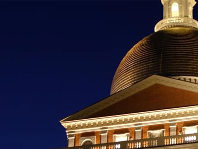Statehouse Dome at Night