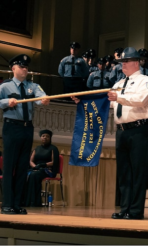 Correction Officer in the DOC Academy graduation