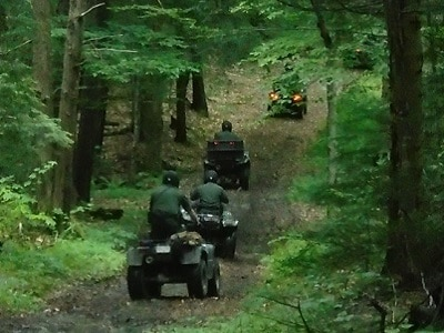 Environmental Police Officers patrolling on OHV