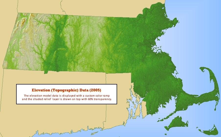 Topographic Map Massachusetts.Massachusetts Document Repository
