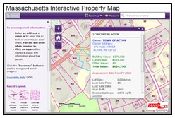 Mass. Interactive Property Map viewer window