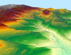 3D Elevation Data with Hillside Effect