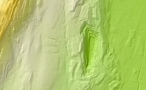 Sample Close-up View of 2005 Elevation Model Data