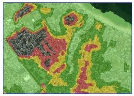 Hurricane Surge Inundation Zones Sample