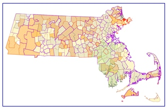Sample map of Public School Districts