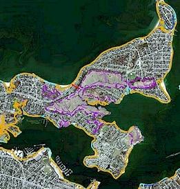 Sample of Tidelands Jurisdiction Datalayers from The MassDEP Waterways Program
