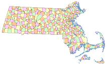 Sample of Community Boundaries (Towns) from Survey Points