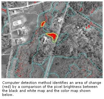 Sample of computer detection method area of change