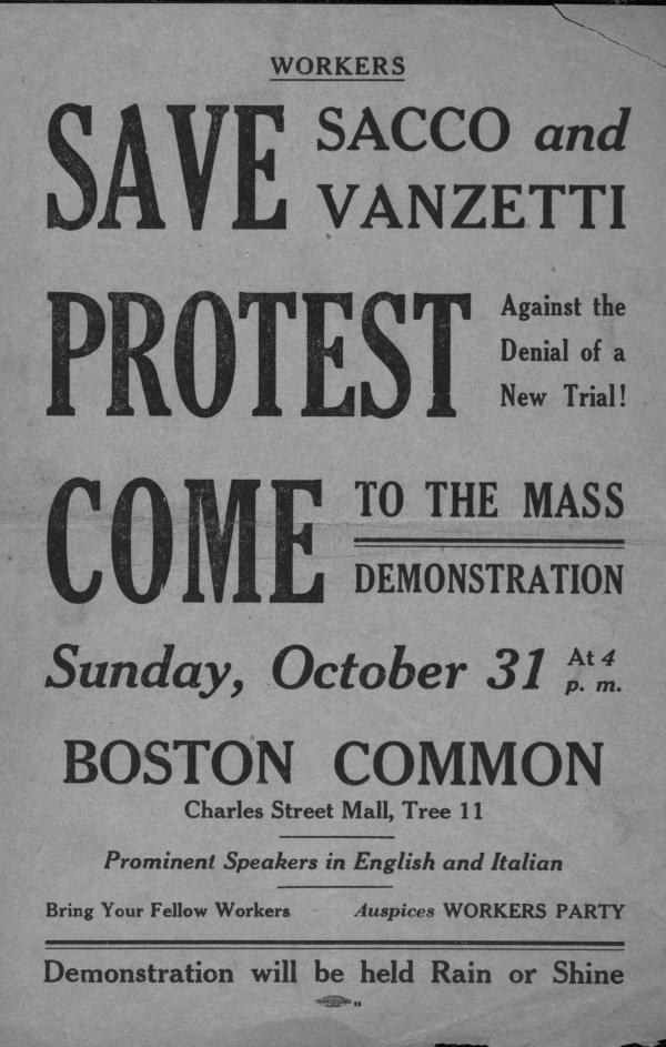 essay on sacco and vanzetti The papers of harvard's president lowell, opened only in 1977, show that he at first was inclined to believe sacco and vanzetti innocent, and only the weight of evidence caused him to change his mind.