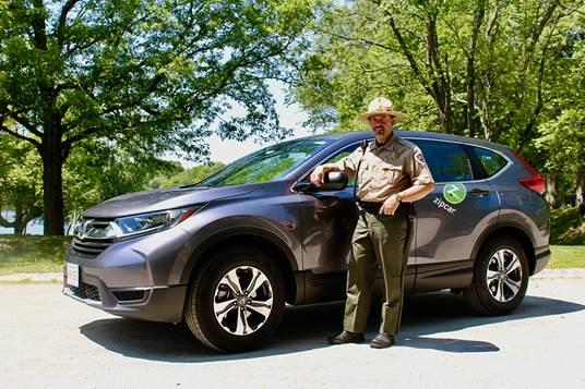 park supervisor with zipcar
