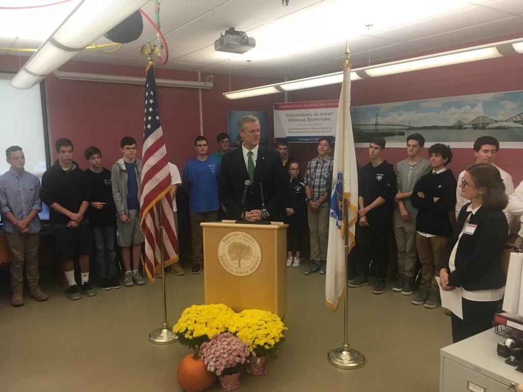 Governor Baker at Nashoba Valley  Technical High School