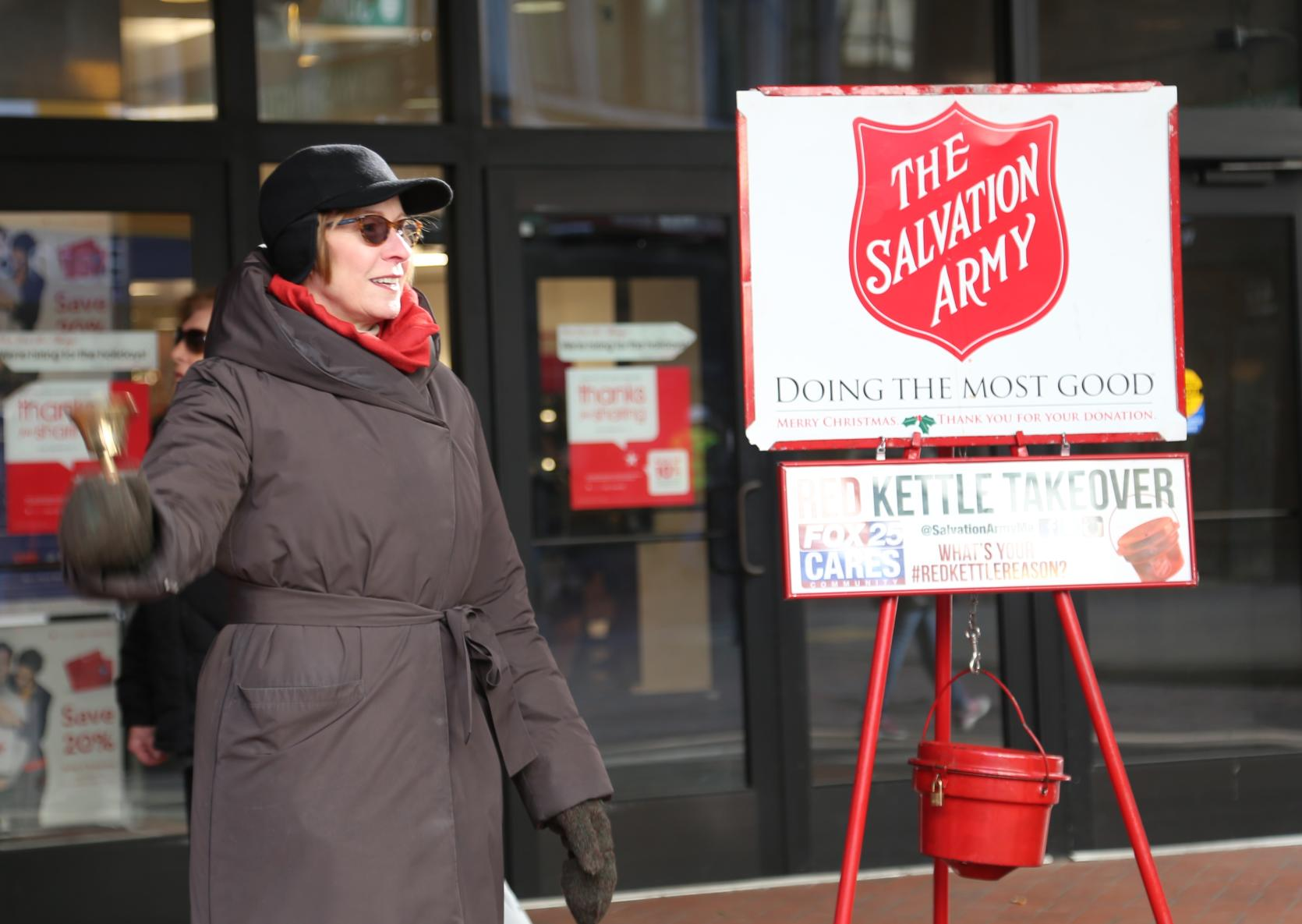 Auditor Bump participates in the Salvation Army's Red Kettle Campaign