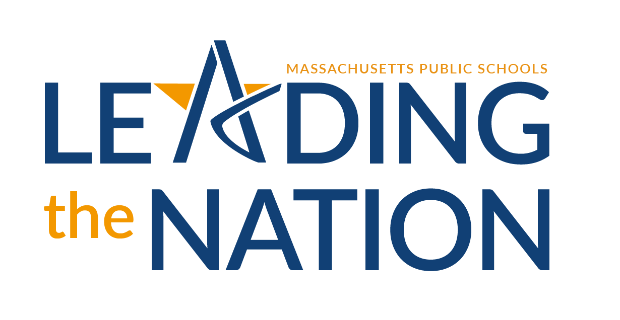 "The image says ""Massachusetts Public Schools - Leading the Nation"""