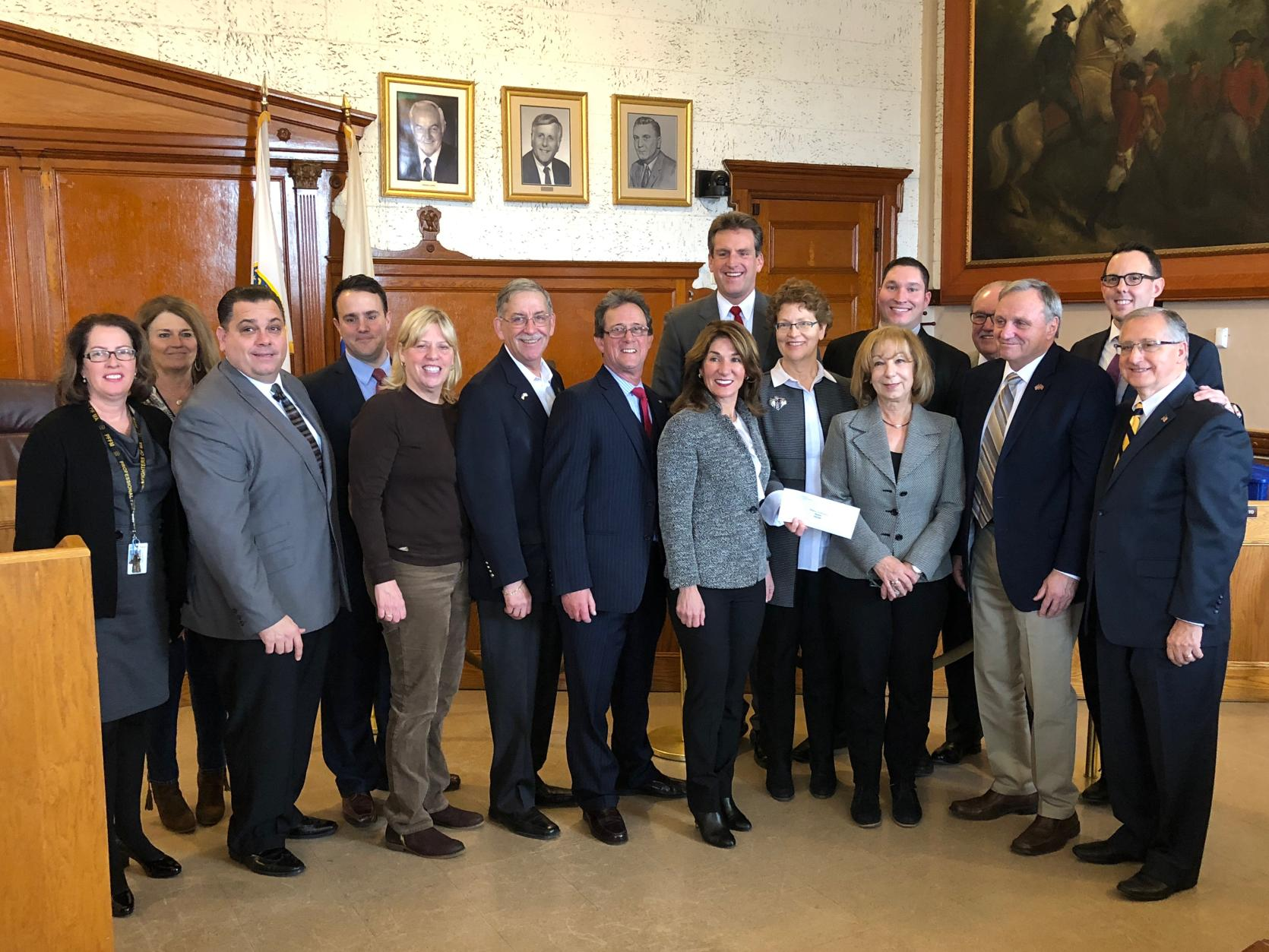 Lt. Governor Polito with Mayor Arrigo and local officials from Revere during Urban Agenda grant event.