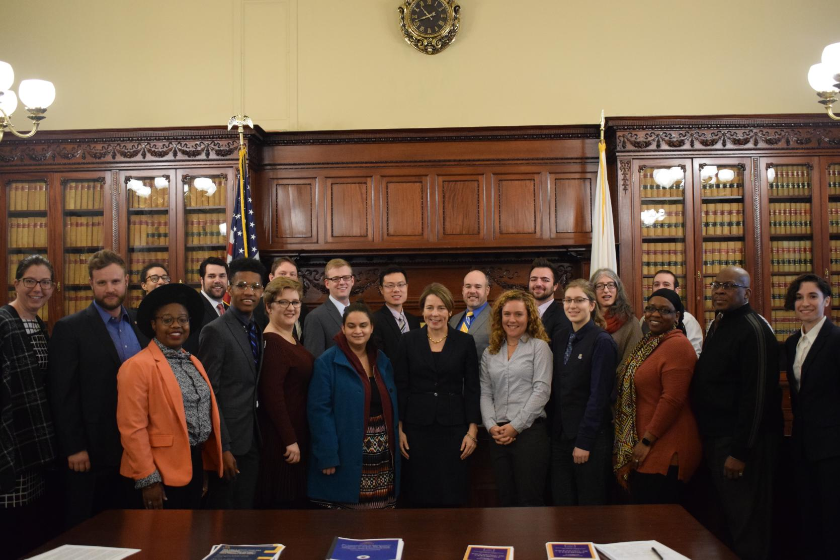 Commission Members & Attorney General Maura Healey After Swearing-In