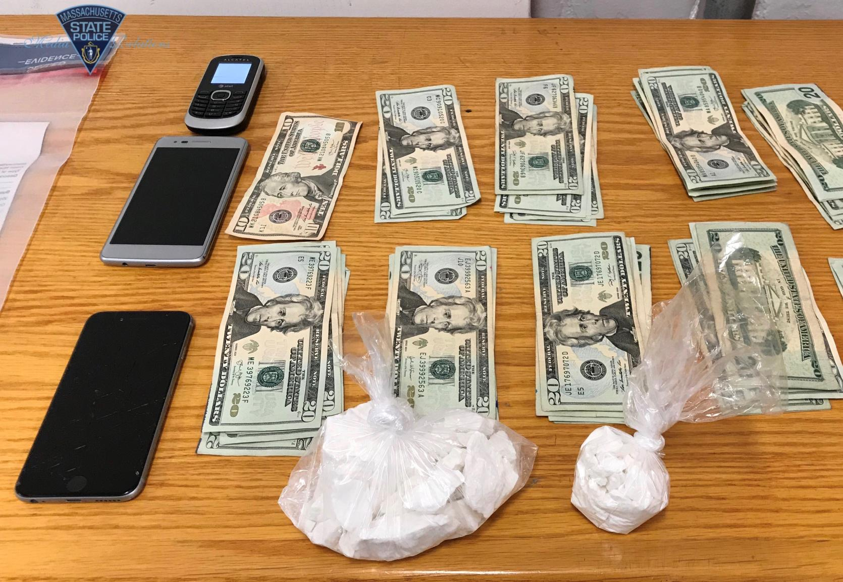 A motor vehicle stop on Sunday resulted in the arrest of a Lynn man for trafficking in cocaine.