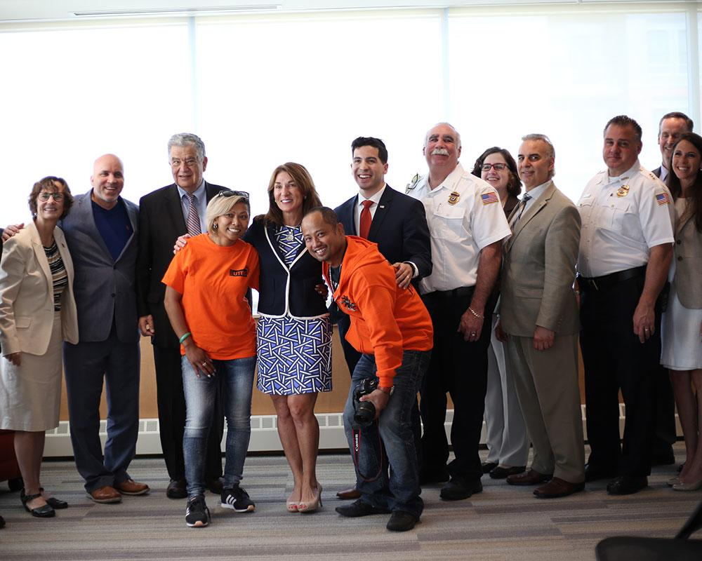 Lt. Governor Karyn Polito, Rep. Andy X. Vargas, and others announce SSYI grant.