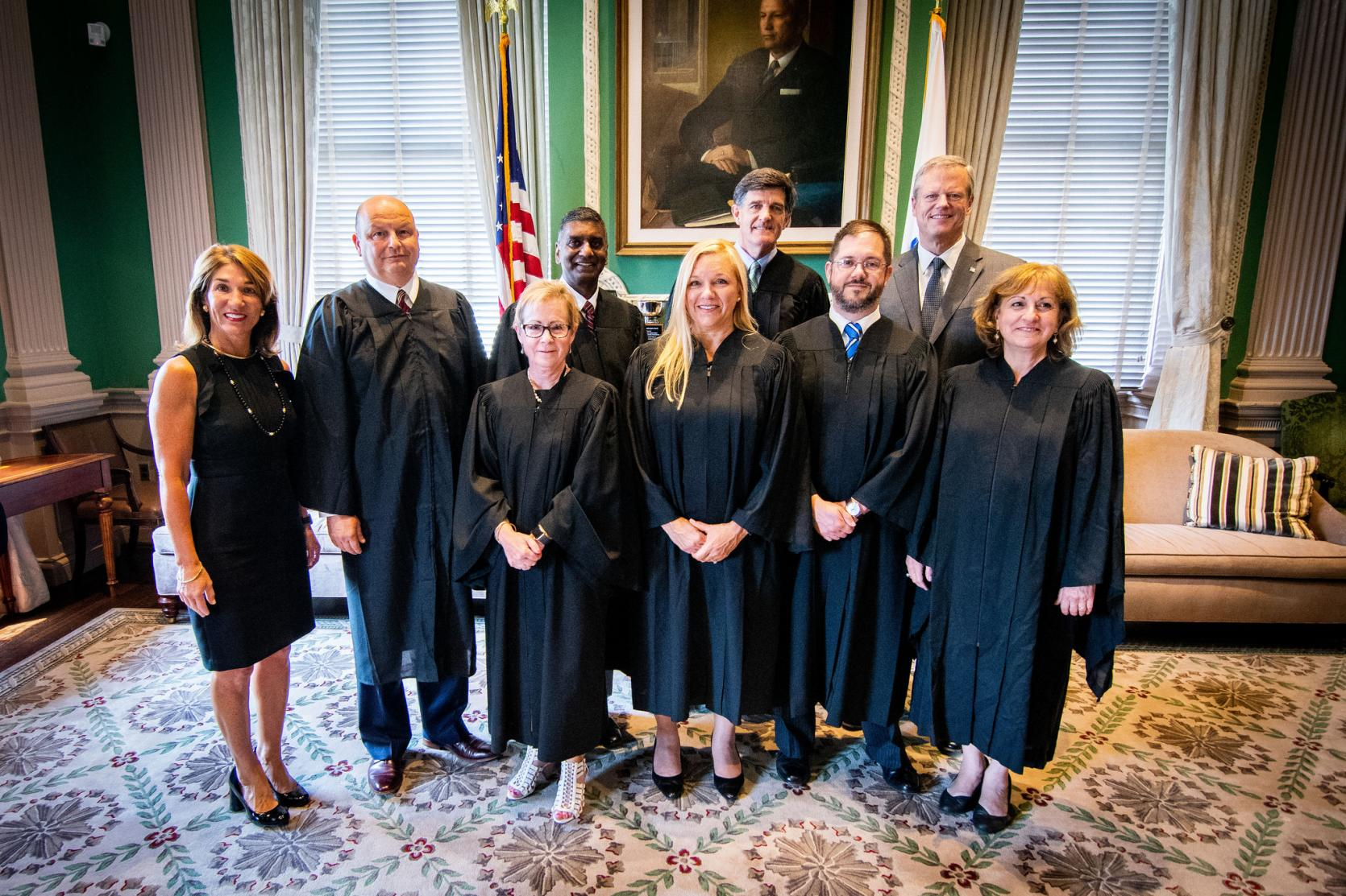 Governor Baker and Lt. Governor Polito with Housing Court justices.
