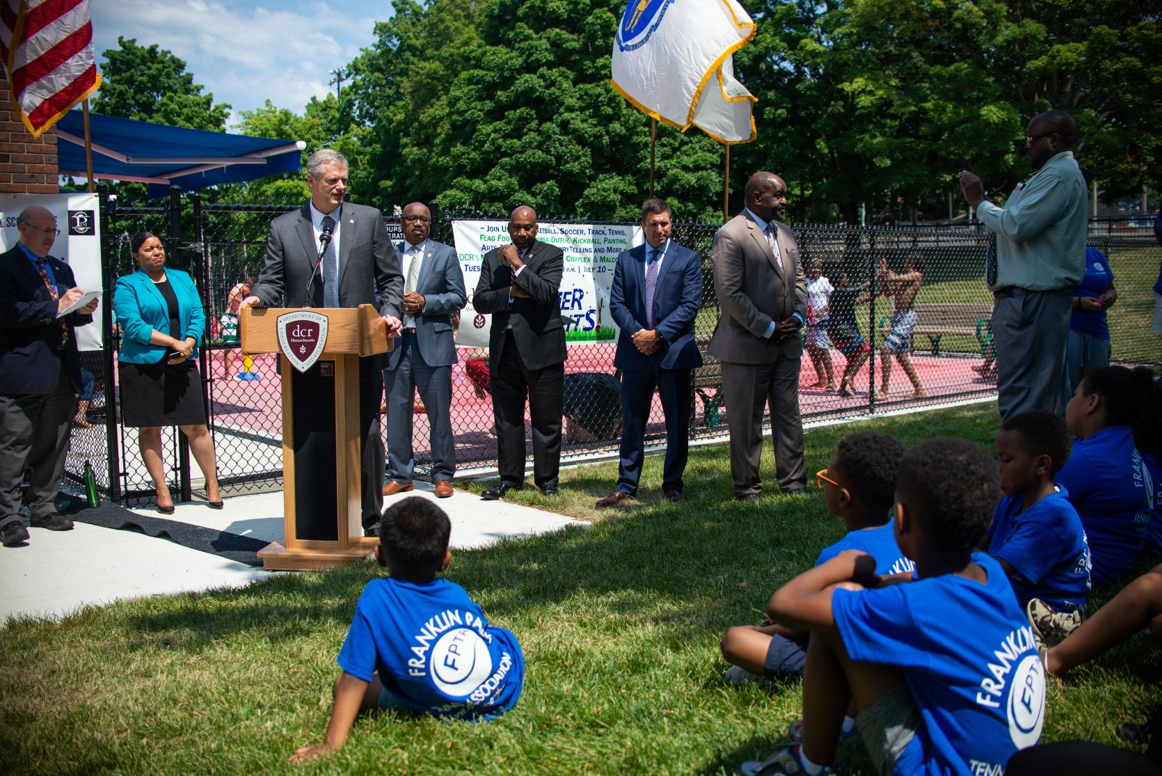 Governor Baker and others announce the 4th annual DCR Summer Nights Initiative.